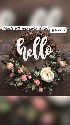 Wreath Crafts, Diy Wreath, Grapevine Wreath, Diy Crafts, Flower Wreaths, Wreaths And Garlands, Floral Wreath, Spring Wreaths, Summer Wreath