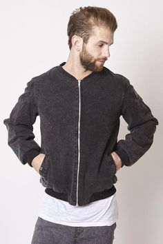 The Pitt Bomber is jacket is made from stonewashed cotton twill and fully lined with a lightly padded lining. It features a Haze & Glory leather patch. Bomber Jacket, Jackets, Shopping, Fashion, Wardrobe Closet, Down Jackets, Moda, Fashion Styles, Jacket