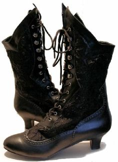 Lace Victorian Boots