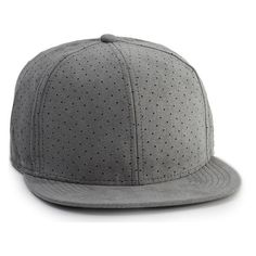 Men's Topman Perforated Faux Suede Snapback Cap (455 ARS) ❤ liked on Polyvore featuring men's fashion, men's accessories, men's hats, grey, mens flat hats, mens flat caps, mens snapback hats, mens caps and mens hats
