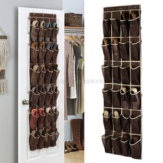 Details about 24 Pocket Shoe Space Door Hanging Organizer Rack Wall Bag Storage Closet Holder Shoe Storage Holder, Hanging Shoe Storage, Shoe Rack Organization, Shoe Storage Bags, Hanging Shoe Organizer, Hanging Shoes, Door Organizer, Shoes Organizer, Vacuum Storage