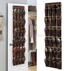 Details about 24 Pocket Shoe Space Door Hanging Organizer Rack Wall Bag Storage Closet Holder Shoe Storage Holder, Hanging Shoe Storage, Shoe Organiser, Shoe Rack Organization, Hanging Shoe Organizer, Hanging Shoes, Bag Storage, Storage Containers, Vacuum Storage