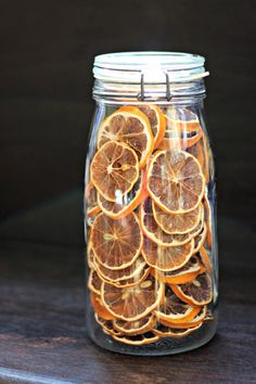 Jar Full of Dehydrated Lemons | Oysters & Pearls