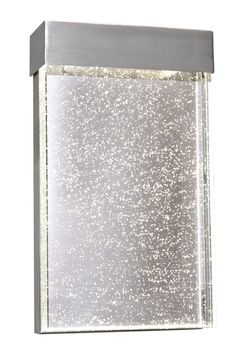 """Maxim 88272 1 Light LED 12"""" Tall Outdoor Wall Sconce from the Moda Collection Stainless Steel / Bubble Glass Outdoor Lighting Wall Sconces Outdoor"""
