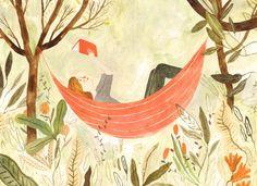 Summer Reading - katie harnett illustration