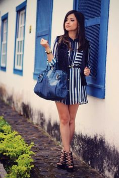 Blues Stripes: A look created by Blogdale on Fashiolista.com
