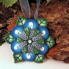 Kaleidoscope Flower Pendant in Polymer Clay