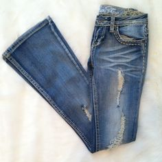 Bootcut jeans Distressed boot cut jeans. Like new ALLOY Jeans Boot Cut