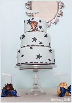Baby Boy Shower Cake-Monkey Rockstar Theme by The Pastry Studio: Daytona Beach, FL