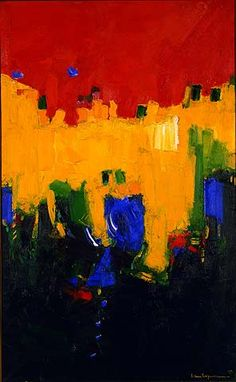 Rich & vibrant.  Above Deep Waters / Hans Hofmann / 1959