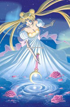 Tags: Anime, Princess, Glow, Bishoujo Senshi Sailor Moon, Tsukino Usagi, Princess Serenity, Shooting Stars