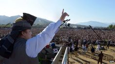 Nawaz Sharif in in the north-western town of Mansehra on 25 March 2013