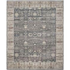 Safavieh Valencia Dark Grey/Light Grey Rectangular Indoor Machine-Made Area Rug (Common: 9 X 12; Actual: 9-Ft W X 12-Ft