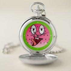 #Cute Watermelon VZS2 Pocket Watch - #cute #gifts #cool #giftideas #custom