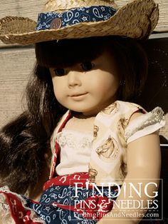 Finding Pins and Needles: American Cowgirl: A doll clothes adventure My American Girl Doll, American Doll Clothes, Ag Doll Clothes, Doll Clothes Patterns, Doll Patterns, Pixie, Doll Costume, Costumes, Diy Doll