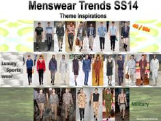 Menswear SS14 themes