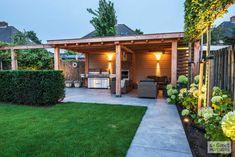 Backyard House, Backyard Garden Design, Backyard Landscaping, Garden Cabins, Garden Makeover, Garden Yard Ideas, Outdoor Pergola, Garden Styles, Garden Inspiration