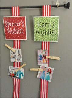 easy to make kids wishlist / Sign up for our monthly craft idea:  http://www.wordplaydesigns.net/#!wp-newsletter/c1zmd