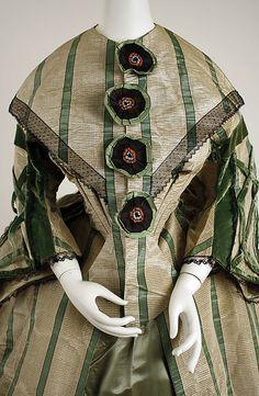Afternoon dress Date: 1858–63 Culture: American or European Medium: silk