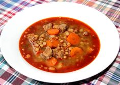 Lencsegulyás | Alajuli receptje - Cookpad receptek My Recipes, Soup Recipes, Cooking Recipes, Torte Cake, Hungarian Recipes, Hungarian Food, One Pot Meals, Chana Masala, Thai Red Curry