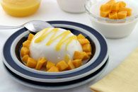 We gave this classic Italian dessert a new touch by replacing cream with coconut milk, and serving it with mangos. Make it the night before serving, for carefree entertaining! It's super simple and super scrumptious!