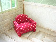 Easy Paper Crafts, Diy Home Crafts, Chor, Dollhouse Furniture, Barbie Furniture, Dollhouse Miniatures, Armchair, Handmade, Home Decor