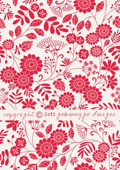 Surface Pattern Design and Illustration by Go Benny Go.: Rambling Flower Mini-Collection by gobennygo