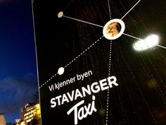At one of the city's biggest taxi ranks, we have designed what will become part of Stavanger Taxi's new profile in the anniversary year of 2015. Stavanger, Taxi, Identity, Anniversary, Profile, News, City, Movie Posters, Outdoor
