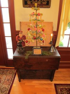 Entry Table with Feather Tree.