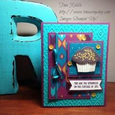 Stampin' Up! Sprinkles of Life, Tree Builder Punch, Bohemian DSP, Boho Chic Embossing Folder Birthday Card by roxanne