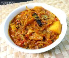 Maayeka - Authentic Indian Vegetarian Recipes: Bengali Cabbage and Potato Curry