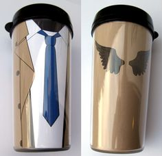 Castiel thermal mug by F-A.deviantart.com - you can download it too!