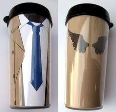 Castiel thermal mug by F-A.deviantart.com - you can download it too!