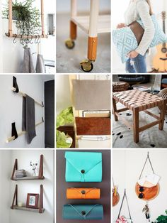 Roundup: 10 DIY Super Easy DIY Leather Projects. Leather is having its moment and we've rounded up a collection of gorgeous DIY leather projects for you to try.