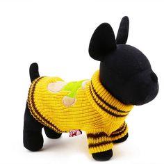 683f30bd496 2016 Baru Musim Semi Musim Gugur Lucu Boneka Beruang Cetak Pet Dog Wol  Sweater Puppy Musim Dingin Pakaian Hangat Pakaian Banding Kasual XS Sml XL