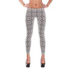 Yoga Leggings - Printed Leggings - Boho Leggings - Rhodonite - front