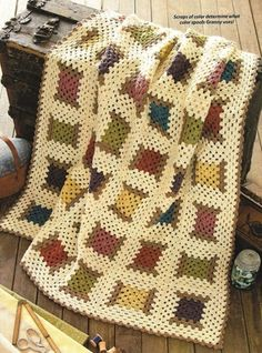 Projects Easy ❤❤❤ GRANNY'S COOL SPOOL ❤❤❤ Love this pattern of spool threads - Great for scrap yarn crochet project- Easy ~ Crochet Afghan / Blanket / Throw ~ Pattern Crochet Afghans, Crochet Motifs, Crochet Quilt, Crochet Squares, Crochet Granny, Easy Crochet, Knit Crochet, Cute Crochet, Granny Squares