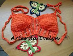 Cropped laranja - www.elo7.com.br/lojas/artesdaevelyn