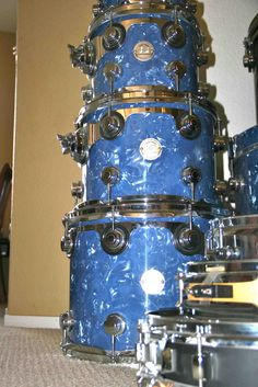 DW Drums - Custom Collectors Series Pack. Navy Diamond