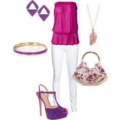 pink and purple, created by hcc71 on Polyvore