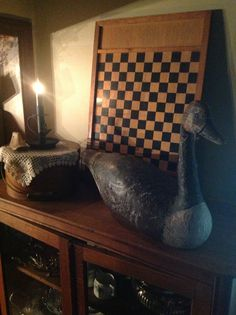 Beautiful carved goose