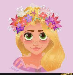 rapunzel flower hair :D