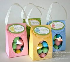 Stampin' Up! card making, scrapbooking and handmade paper crafting in San Jose. Easter Peeps, Easter Candy, Easter Treats, Easter Gift Bags, Treat Holder, Easter Holidays, Treat Bags, Hostess Gifts, Holiday Crafts