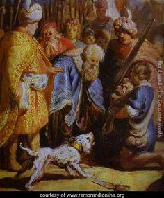 David Presenting the Head of Goliath to King Saul - Rembrandt Van Rijn - www.rembrandtonline.org