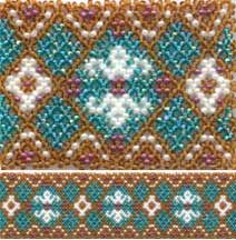 Touch of Class 2 - Huichol style Bracelet beading pattern by Rita Sova at Sva-Enterprises.com