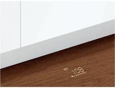 Bosch Dishwasher, Model: SHV7PT53UC. Time light displays onto floor.