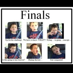 this will be my finals week