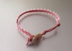 Ladder Bracelet Pink Bracelet Leather Bracelet Girls by PBandJLane, $19.89