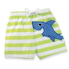 Mud Pie Boathouse Baby Boy Shark Swim Trunks  Sizes 12M-18M Sold at Baby Family Gifts Ebay  #mudpie #swimshorts #babyboys #sharks #ebay
