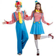 Pareja Payasos Tirantes #parejas #disfraces #carnaval #novedades2016